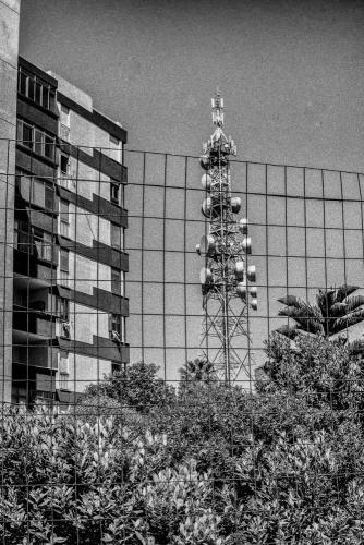 Veduta di antenna